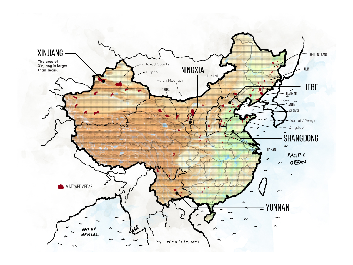 Une introduction au vin chinois (Guide régional avec cartes)