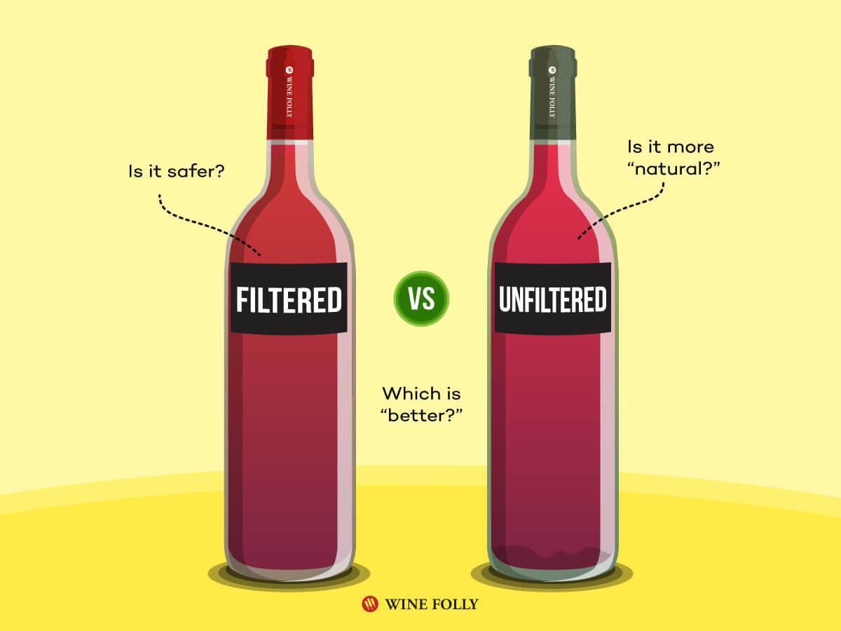 Vin filtré ou non filtré: quel est le meilleur?