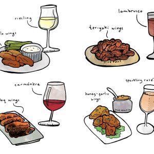 Vins chauds, ailes chaudes: accord vins et ailes